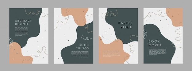 Set bundle of abstract creative universal cover templates