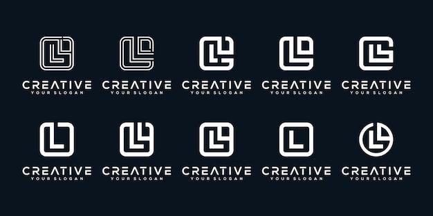 세트 번들 초기 편지 l 로고 디자인