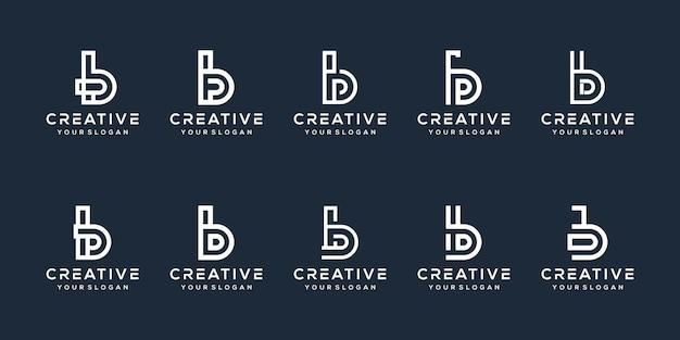 Set bundle letter b logo design