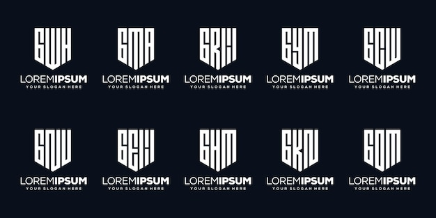 Установить пакет буква f дизайн логотипа