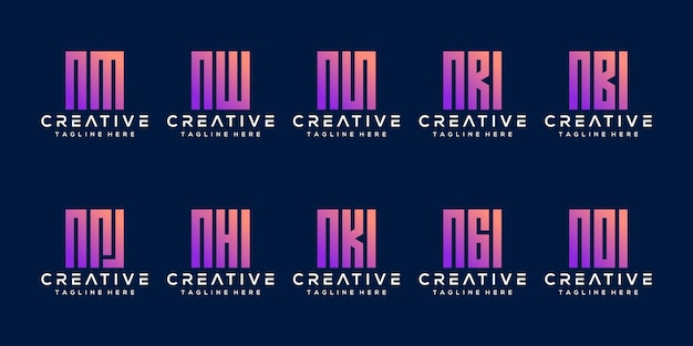 Установить пакет буква n дизайн логотипа