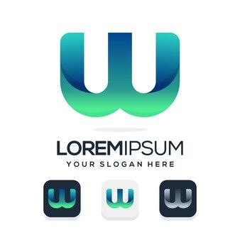 Set bundle letter w logo design