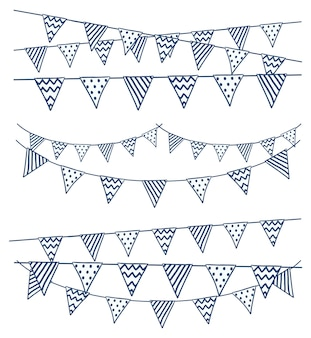 Set of bunting flag