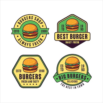 Set burger   logo