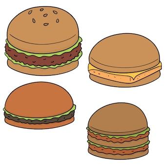 Set of burger