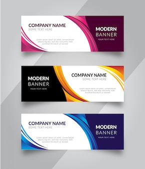 Set of business banner