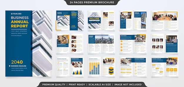 Set of business brochure template