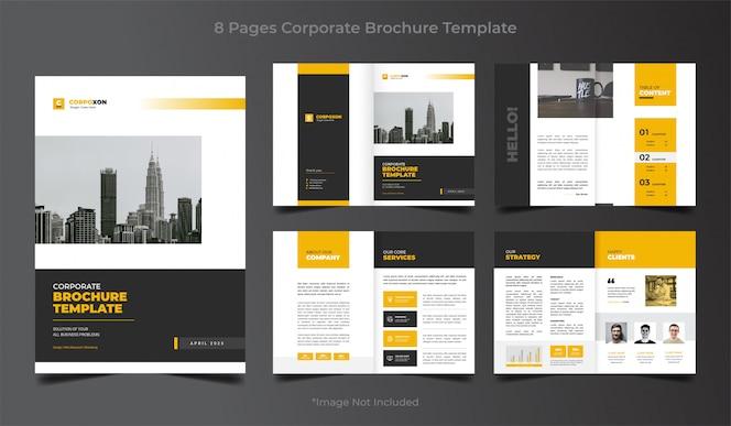 Set of business brochure