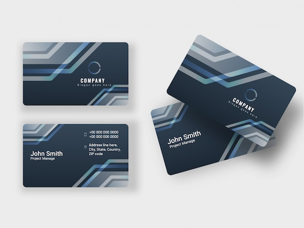 Set of business card or horizontal template.