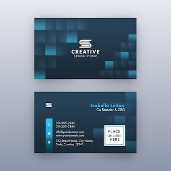 Set of business card template layout