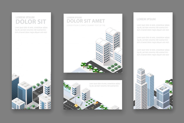 Set business card template
