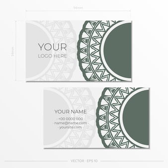 Set of business cards. vintage pattern in modern style with cyclamen plants and cicadas. vector illustration