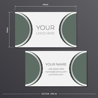 Set of business cards. vintage pattern in modern style with cyclamen plants and cicadas.