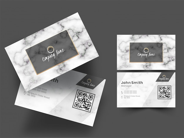 Set of business company card or visiting card