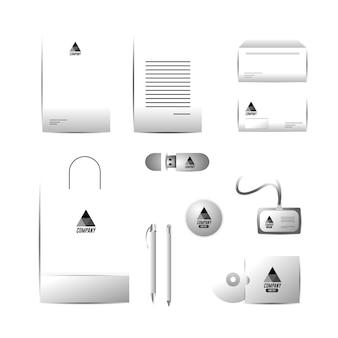 문서와 비즈니스 회사 고정 서식 파일 설정