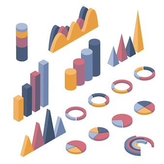 Set of business elements, infographics and diagrams.