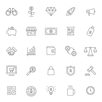 Set of business financial icon