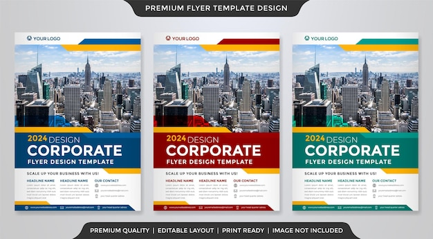 Set of business flyer template design with creative and