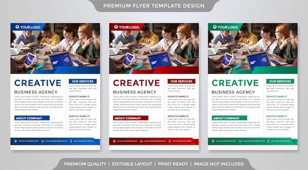 Set of business flyer