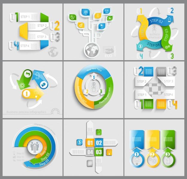 Set of business marketing. Premium Vector
