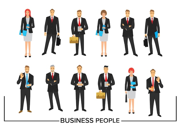 Set business people character design