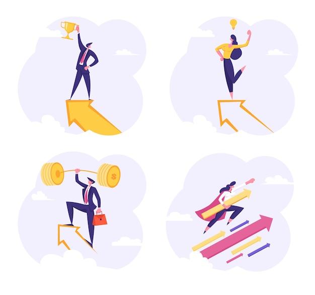 Set of business people illustration