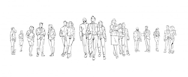 Set of business people illustrations