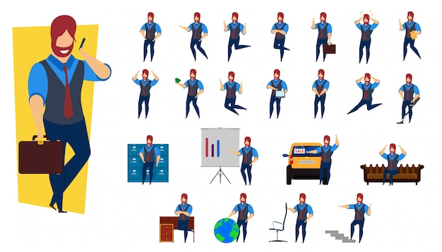 Set business person character design