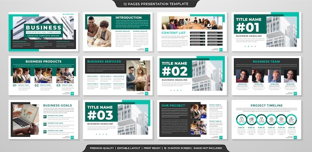 Set of business ppt layout template premium style