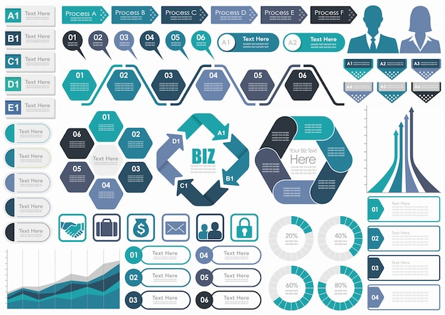 Set of business-related infographic