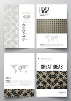 Set of business templates for brochure, flyer, report.