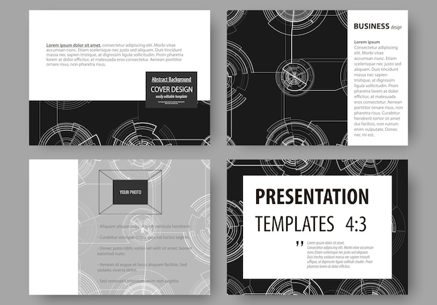 Set of business templates for presentation slides