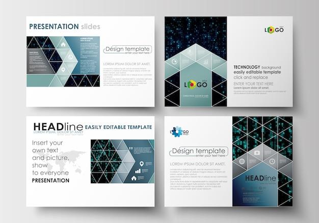 Set of business templates for presentation slides