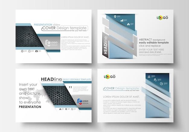 Set of business templates for presentation slides.