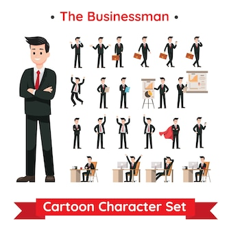 Set of businessman character design