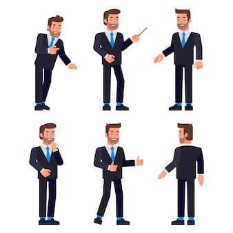 Set of businessman character ,
