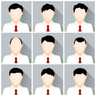 Set of businessman icons