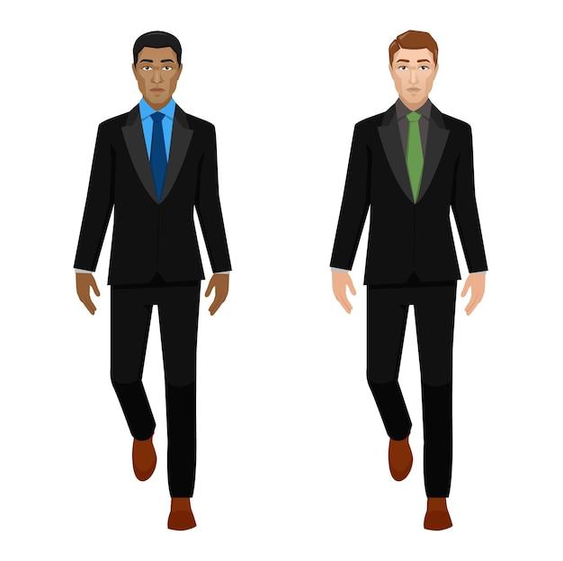 歩くビジネスマンを設定します。