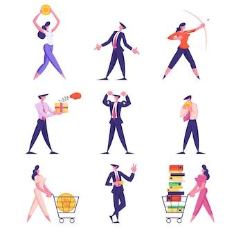 Набор иллюстрации образа жизни бизнесменов