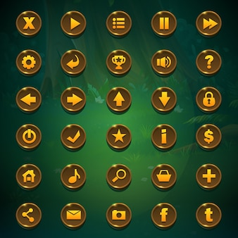 Set buttons for game user interface