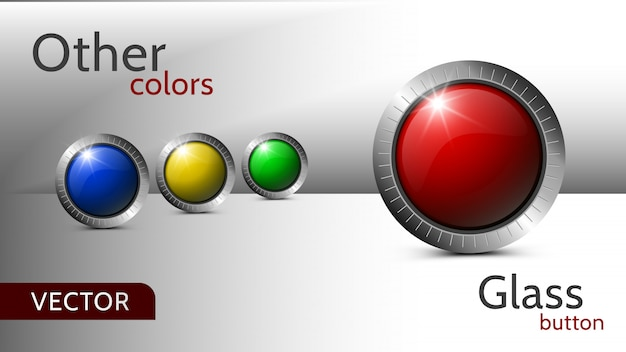 Set of buttons for web design. multi-colored buttons