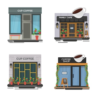 Set of cafe illustrations