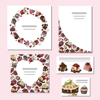 Set of cakes card
