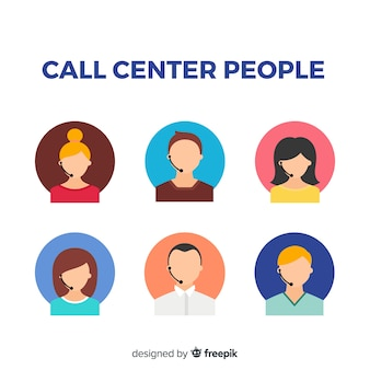 Set of call center avatars