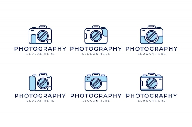 Set camera with line concept logo design inspiration