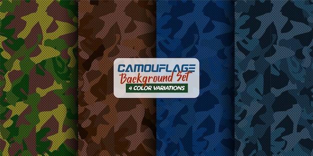 Set of camouflage background