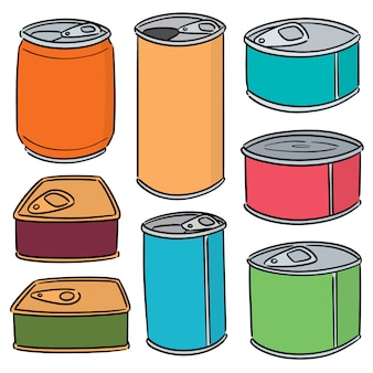 Set of can