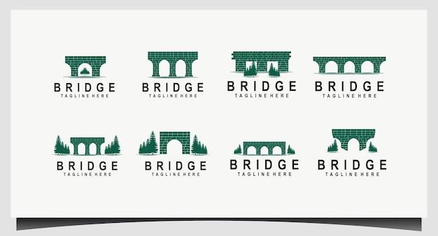 운하 / 수로 벽돌 다리 로고 설정