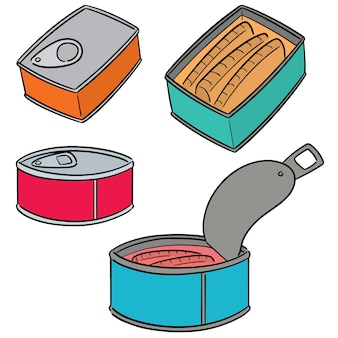 Set of canned fish