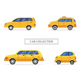 Set car vehicle collection illustration